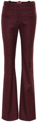 Altuzarra High-rise checked stretch-wool pants
