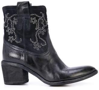 113382936620 Fauzian Jeunesse  Fauzian Jeunesse embroidered ankle boots
