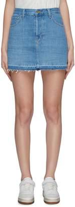 J Brand 'Bonny' released hem frayed mini skirt