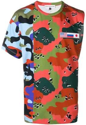 Gosha Rubchinskiy camouflage hybrid T-shirt