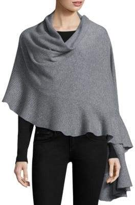 Minnie Rose Cashmere Ruffle Cape