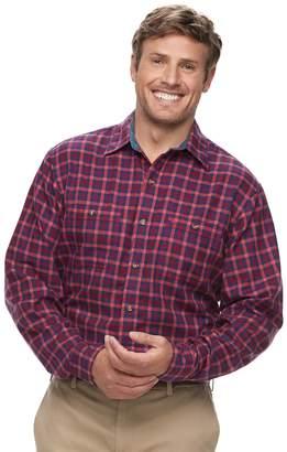 Izod Big & Tall Harbor Plaid Classic-Fit Twill Button-Down Shirt
