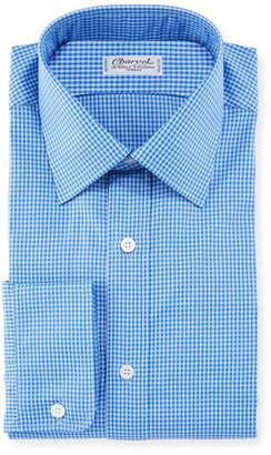 Charvet Men's Tonal Tattersall Cotton Dress Shirt