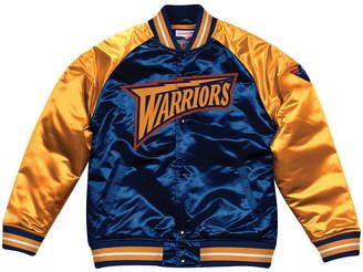 Mitchell & Ness Men's Golden State Warriors Tough Season Satin Jacket