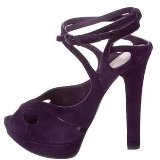 Bottega Veneta Suede Platform Sandals