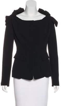 Burberry Silk Long Sleeve Jacket