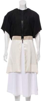 Rue Du Mail Short Sleeve Colorblock Jacket w/ Tags Black Short Sleeve Colorblock Jacket w/ Tags