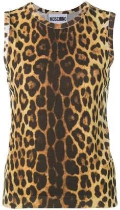 Moschino leopard print tank top