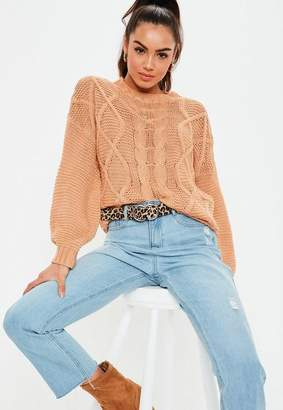 Camel Cable Knit Sweaters - ShopStyle 7b3cd38df