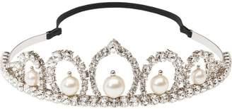 Miu Miu pearl and crystal headband