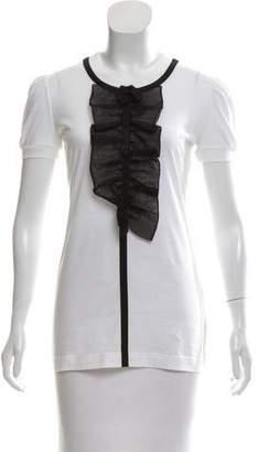 Dolce & Gabbana Ruffle-Trimmed Short Sleeve Top