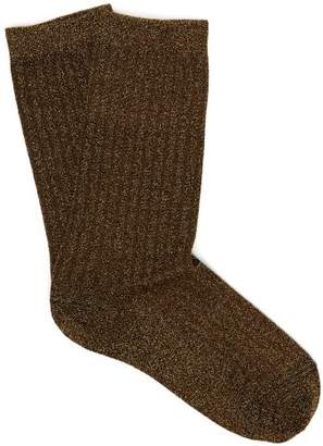 Isabel Marant Lulu Lame Socks - Womens - Gold