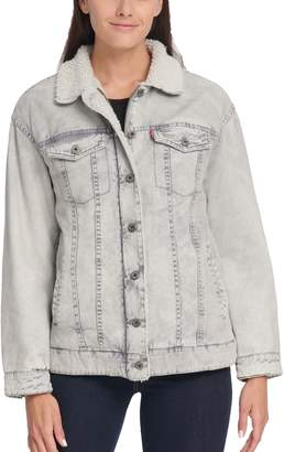 Levi's Levis Women's Sherpa-Lined Denim Trucker Jacket