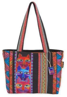 Laurèl Burch Stacked Whiskered Cats Medium Tote