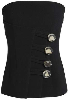 CHRISTOPHER ESBER Button-Detailed Crepe Bustier Top