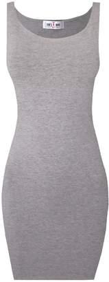 Toms Tom's Ware Women Classic Slim Fit Tank Bodycon Mini Tee Dress TWCWD068-L (US M/L)