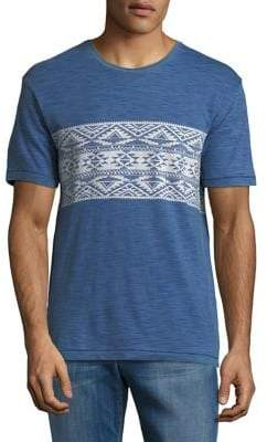 Lucky Brand Aztec Short-Sleeve Cotton Tee