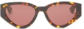Christian Dior Diorspirit2 Cat Eye Acetate Sunglasses - Womens - Tortoiseshell