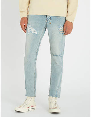 Ksubi Chitch Chop slim-fit high-rise raw-hem stretch-denim jeans