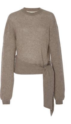 Khaite Esme Gathered Waist Cashmere Sweater