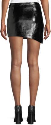 b99366f068f9 ... Helmut Lang Croc-Embossed Leather Mini Skirt