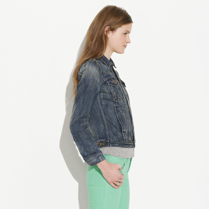 Madewell The Jean Jacket in Storm Cloud Wash