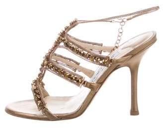 Jimmy Choo Jewel-Embellished Ankle Strap Sandals