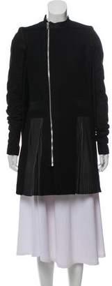 Rick Owens Wool Suede Coat