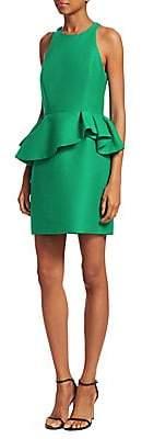 Halston Women's Sleeveless Peplum Sheath Dress