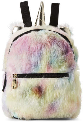 Betsey Johnson Luv Betsey By Rainbow Kitsch Mini Faux Fur Backpack