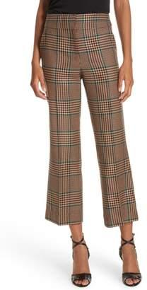 Veronica Beard Cormac Plaid Wool Blend Trousers