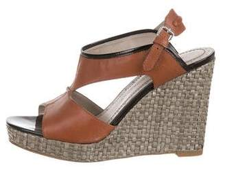 Marc by Marc Jacobs Leather Cutout Wedges