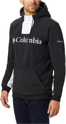 Columbia Men Lodge Active-Fit Colorblocked Fleece Logo Hoodie