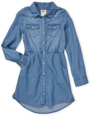 Levi's Girls 7-16) Chambray Shirtdress