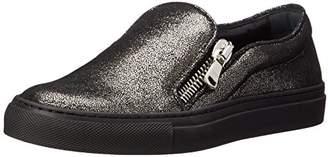 Sebastian Women's Black Sneaker W/Side Zipper