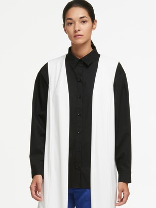 Donna Karan Donnakaran Oversized Vest With Sheer Back