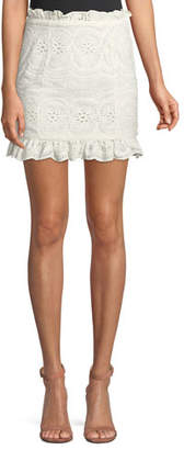 Lovers And Friends Charlotte Eyelet Lace Mini Skirt