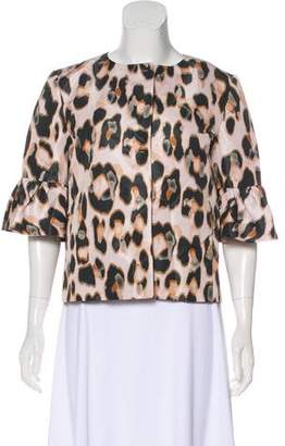 RED Valentino Printed Button-Up Blouse