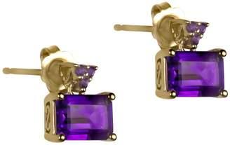 Fine Jewellery 14K Yellow Gold Earrings with Amethyst