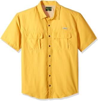 G.H. Bass & Co. Men's Big and Tall Explorer Short Sleeve Point Collar Fishing Shirt