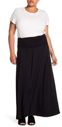 Bobeau Convertible Maxi Skirt (Plus Size)