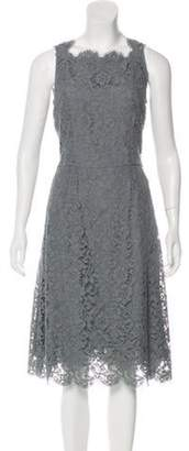 Dolce & Gabbana Lace Midi Dress Grey Lace Midi Dress