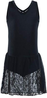 LTB Flo Dancewear Little & Big Girls Sequin-Lace Tank Leotard Dress