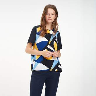 Tommy Hilfiger Pleated Graphic Print Polo