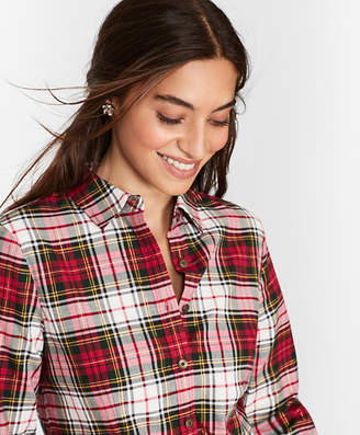 Brooks Brothers Shimmer Plaid Cotton-Blend Flannel Shirt