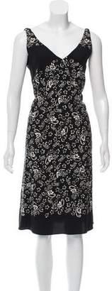 Marc Jacobs Printed V-Neck Dress