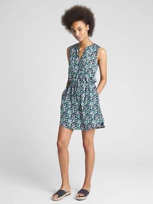 Gap Perfect Sleeveless Tie-Waist Shirt Dress