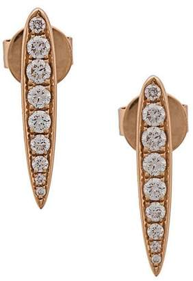 Anita Ko 18kt gold Small Spear diamond earrings