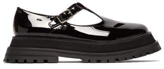 Burberry Aldwych Flatform Patent Leather Dolly Loafers - Womens - Black