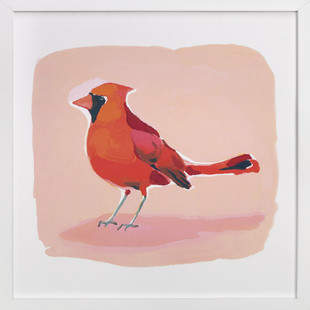 Inquisitive Cardinal Art Print